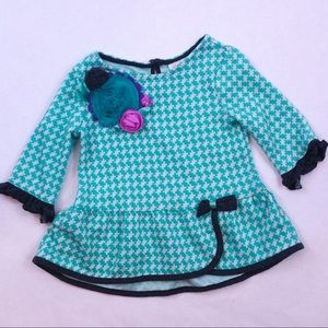 Fancy floral checkered blouse Emily rose size 3T